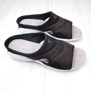 Easy Spirit Seteak2 Black Slip On Sandals 10